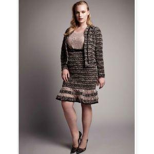 Lane Bryant Boucle Lace Knit Suit Blazer Jacket 16